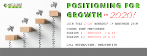Positioning for Growth in year 2020